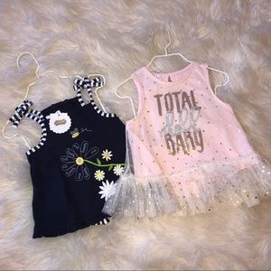 Lot of 2- NWT Mud Pie Baby Girl Outfits